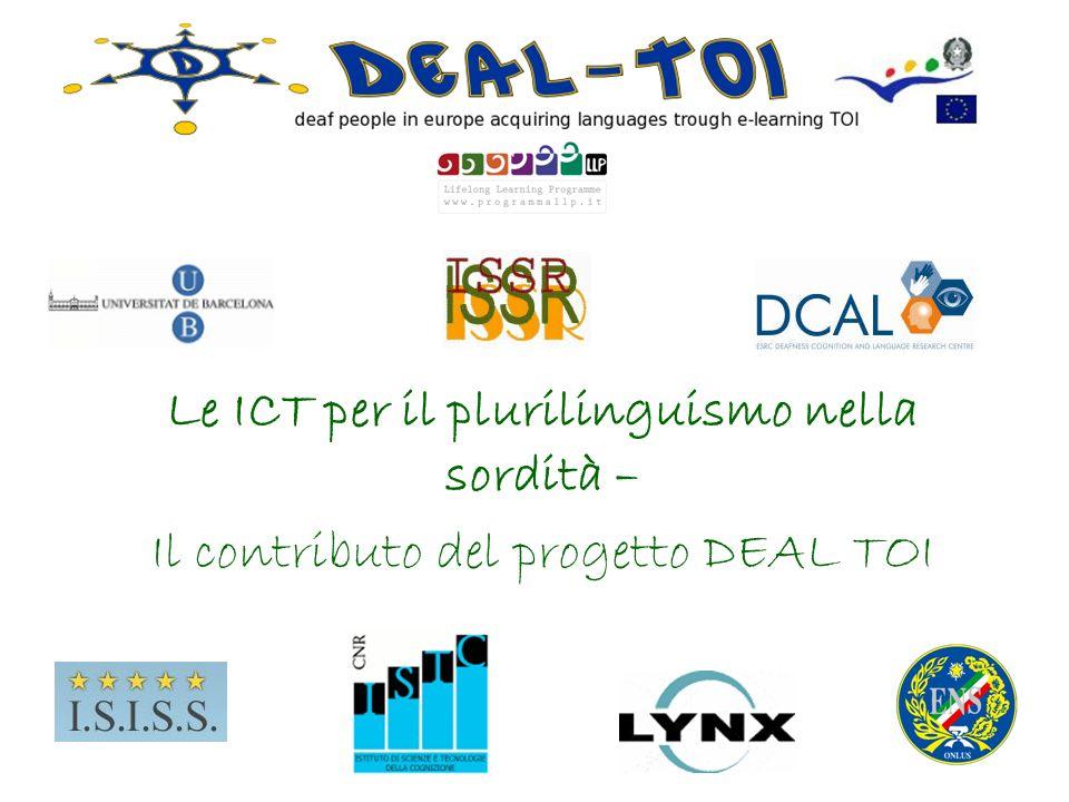 Le ICT per il plurilinguismo nella sordità – Il contributo del progetto DEAL TOI