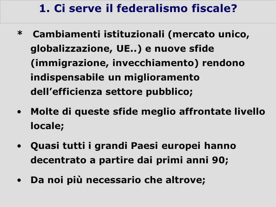3 1. Ci serve il federalismo fiscale.