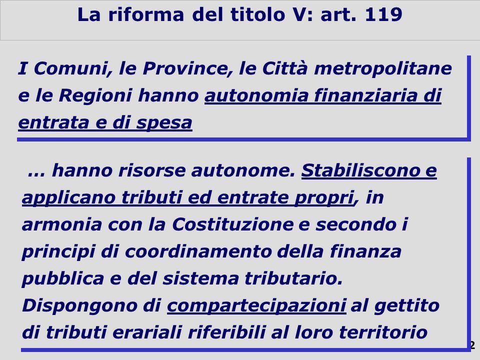 32 La riforma del titolo V: art.