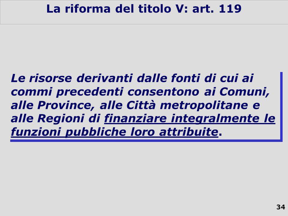 34 La riforma del titolo V: art.