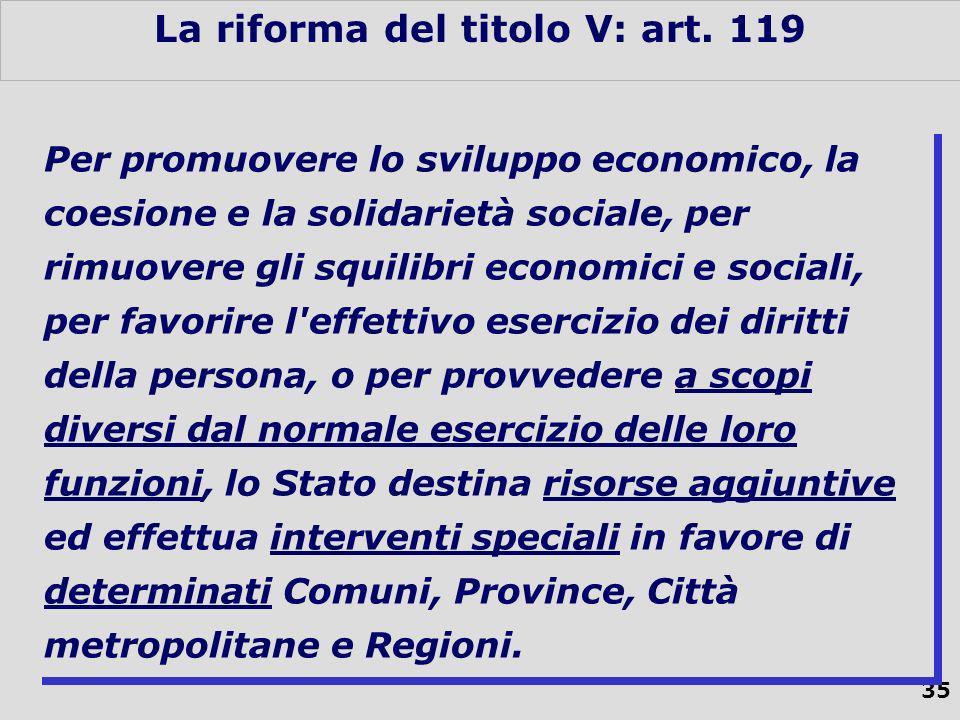 35 La riforma del titolo V: art.