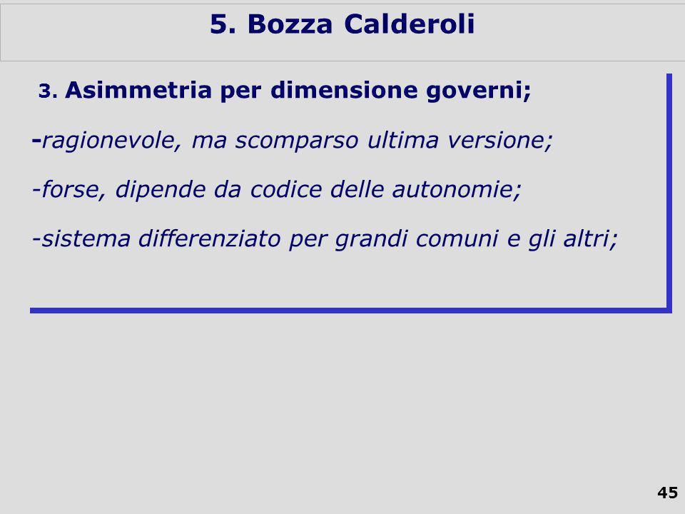 45 5. Bozza Calderoli 3.