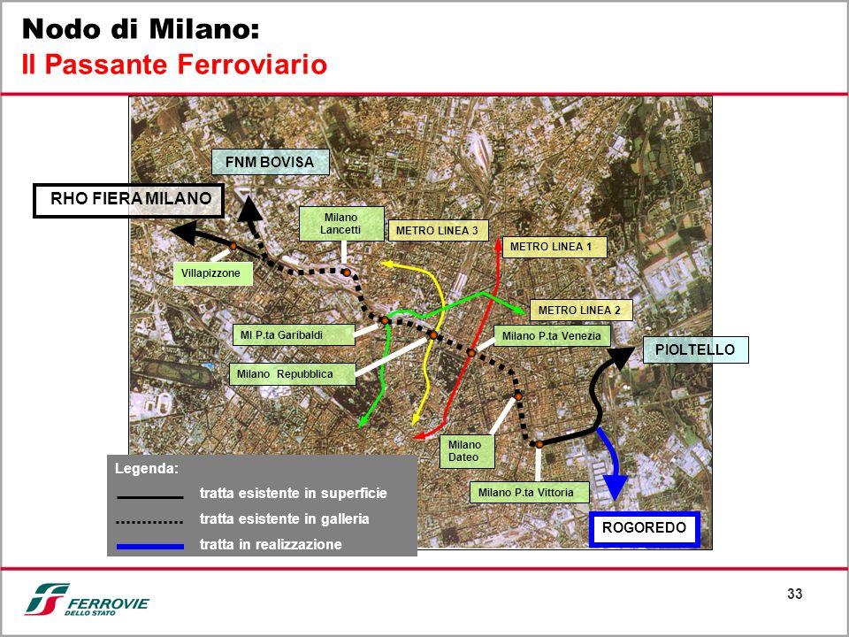 33 PIOLTELLO ROGOREDO Milano Dateo METRO LINEA 1 METRO LINEA 3 MI P.ta Garibaldi Milano P.ta Venezia METRO LINEA 2 Milano Repubblica Milano Lancetti V