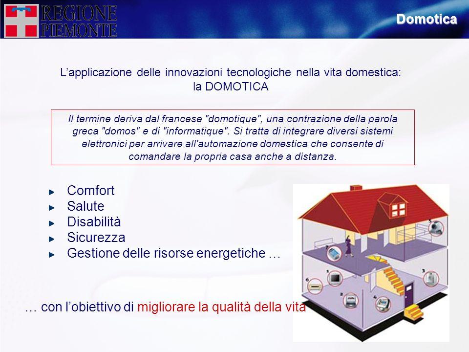 Domotica Lapplicazione delle innovazioni tecnologiche nella vita domestica: la DOMOTICA Il termine deriva dal francese