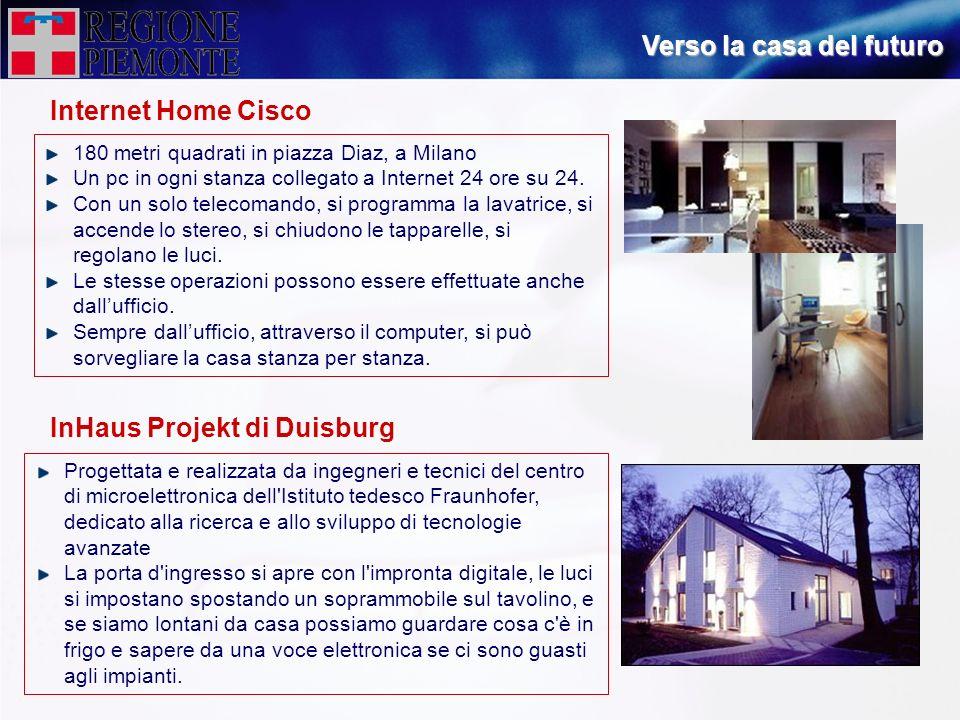 Internet Home Cisco Verso la casa del futuro 180 metri quadrati in piazza Diaz, a Milano Un pc in ogni stanza collegato a Internet 24 ore su 24. Con u