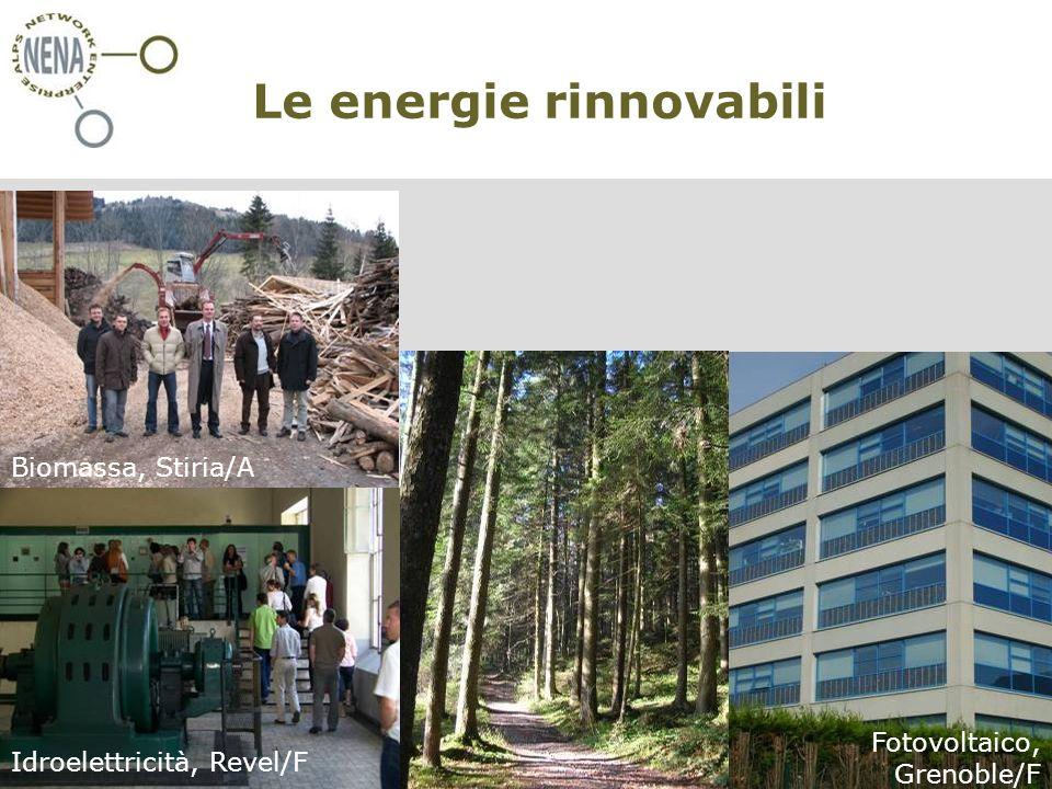 NENA - Restructura, Turin/I, 30 novembre 2007 Claire Simon – CIPRA International Le energie rinnovabili oxxxxx Biomassa, Stiria/A Idroelettricità, Revel/F Fotovoltaico, Grenoble/F