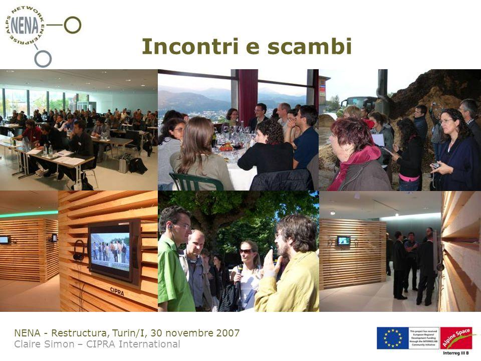 NENA - Restructura, Turin/I, 30 novembre 2007 Claire Simon – CIPRA International Incontri e scambi