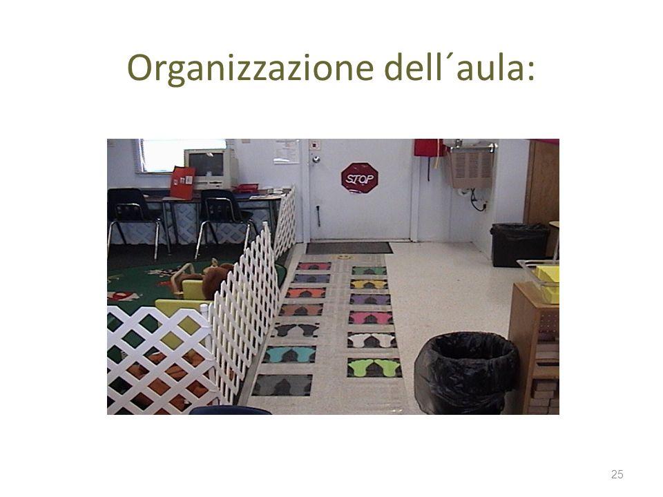 Organizzazione dell´aula: 25
