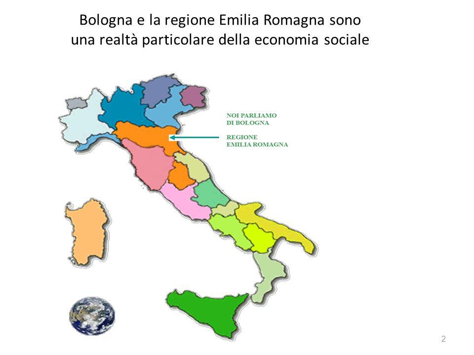 BOLOGNA Bologna, città di 400.000 abitanti, è situata nella regione Emilia Romagna, è importante in Italia per la sua università e per la qualità dei servizi per i cittadini, in particolare quelli alla persona: scuola, educazione, assistenza, sanità.
