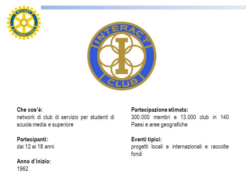 Interact è un associazione di club di servizio istituita dal RI per i giovani di età compresa tra i 12 e 18 anni.