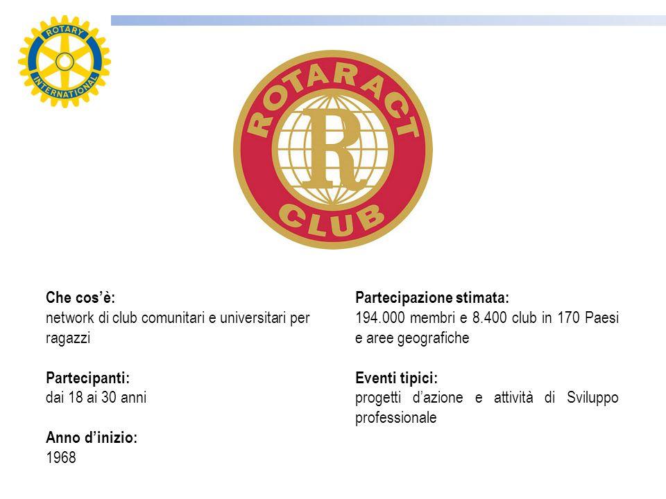 Il Rotaract è unassociazione di giovani fra i 18 e i 30 anni dediti al volontariato.