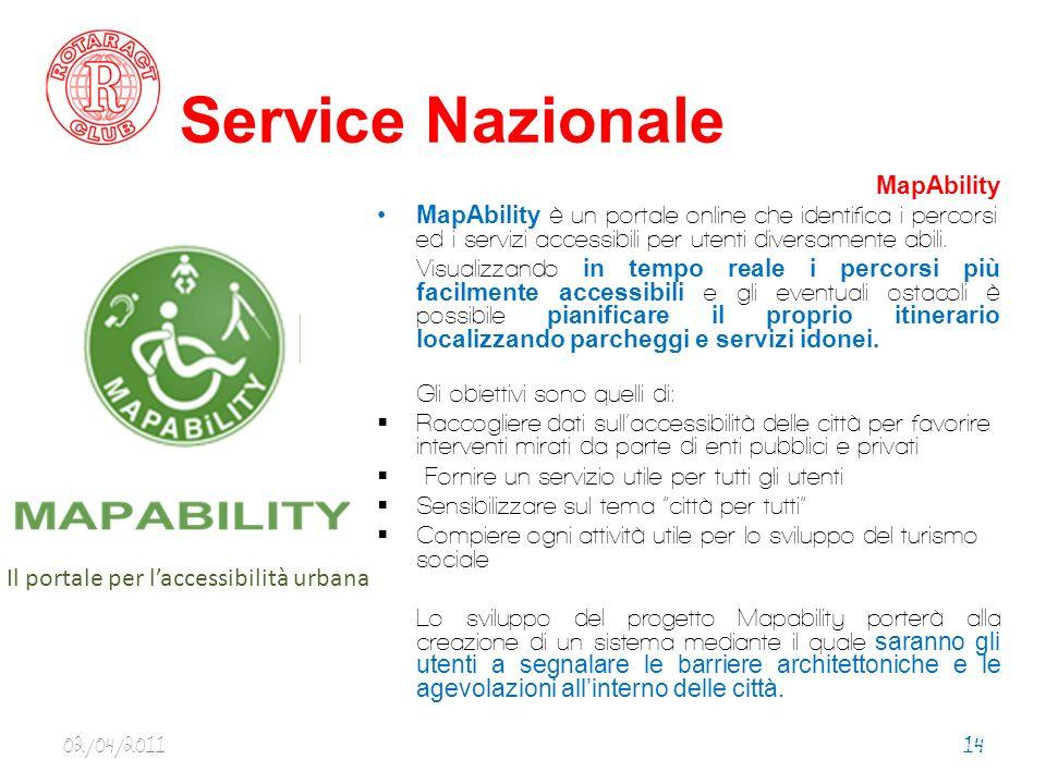 Service Nazionale MapAbility MapAbility è un portale online che identifica i percorsi ed i servizi accessibili per utenti diversamente abili.