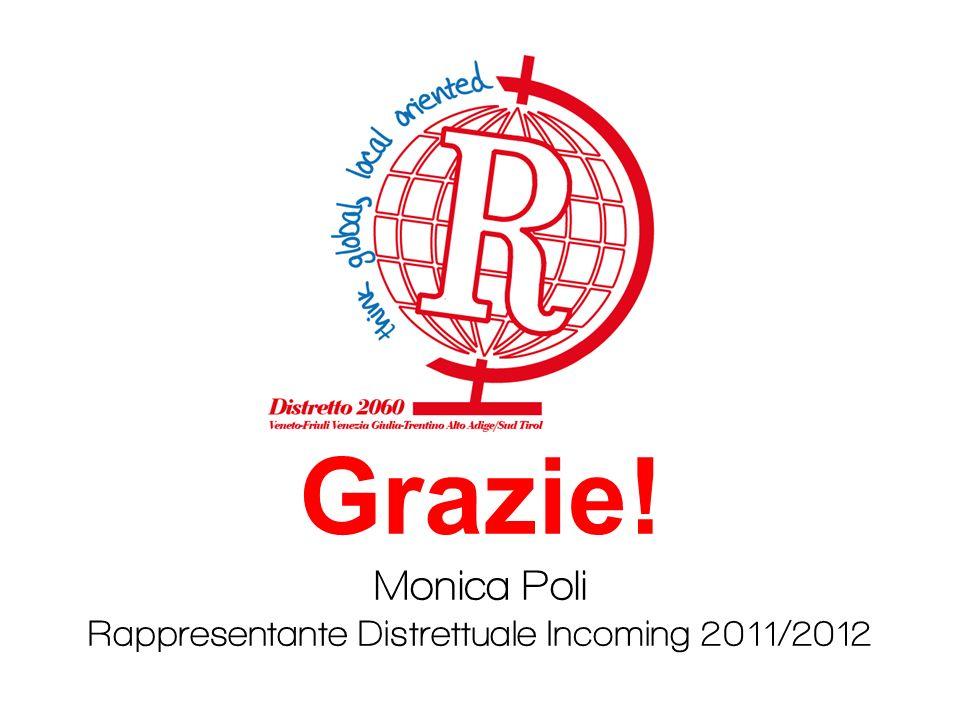 Grazie! Monica Poli Rappresentante Distrettuale Incoming 2011/2012