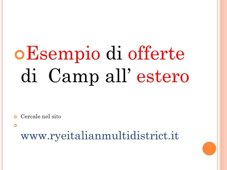 Esempio di offerte di Camp all estero Cercale nel sito www.ryeitalianmultidistrict.it