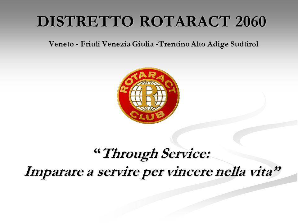 DISTRETTO ROTARACT 2060 Veneto - Friuli Venezia Giulia -Trentino Alto Adige SudtirolThrough Service: Imparare a servire per vincere nella vita
