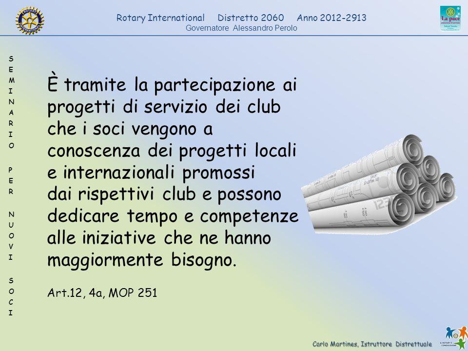 Carlo Martines, Istruttore Distrettuale Rotary International Distretto 2060 Anno 2012-2913 Governatore Alessandro Perolo È tramite la partecipazione a