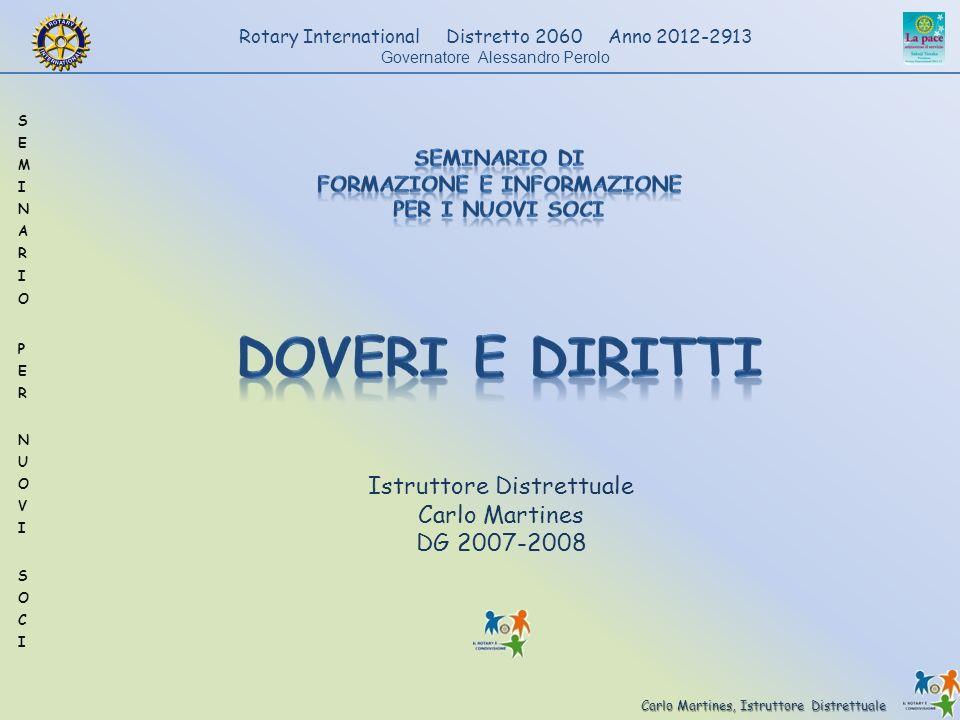 Carlo Martines, Istruttore Distrettuale Rotary International Distretto 2060 Anno 2012-2913 Governatore Alessandro Perolo Istruttore Distrettuale Carlo