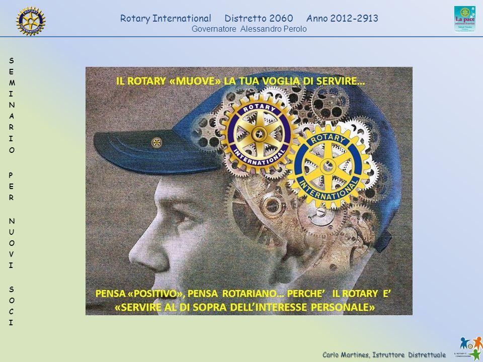 Carlo Martines, Istruttore Distrettuale Rotary International Distretto 2060 Anno 2012-2913 Governatore Alessandro Perolo