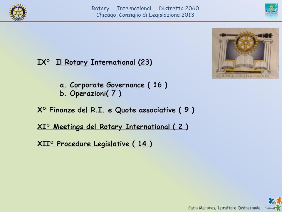 Carlo Martines, Istruttore Distrettuale Rotary International Distretto 2060 Chicago, Consiglio di Legislazione 2013 IX° Il Rotary International (23) a
