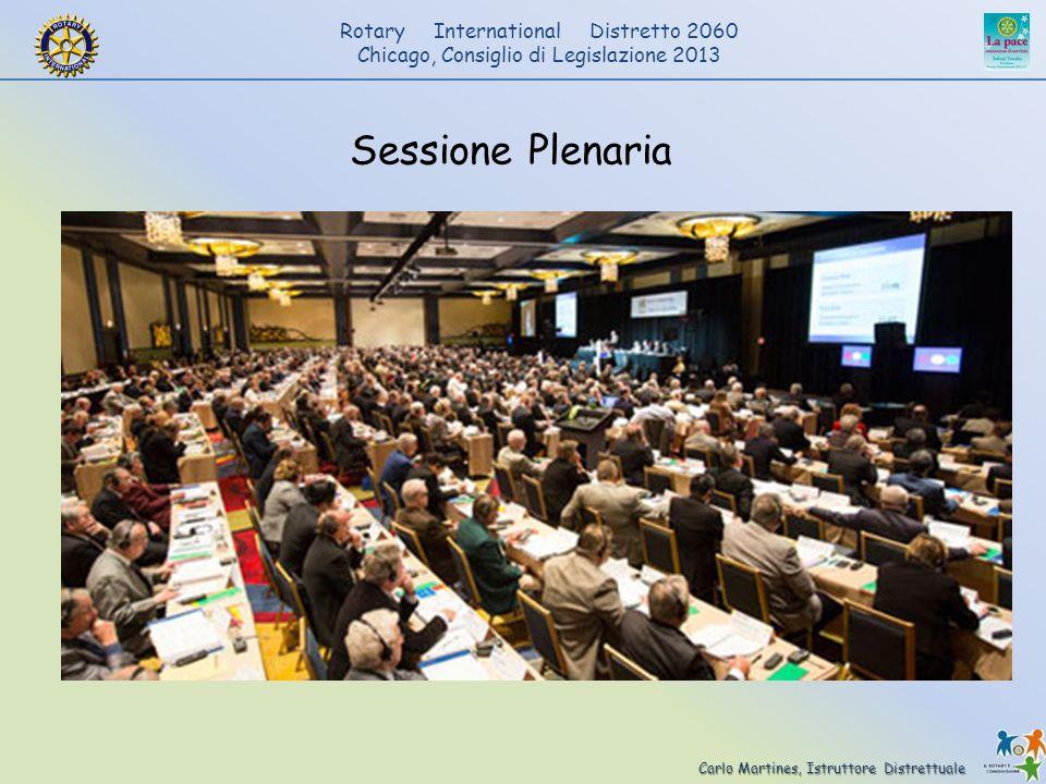 Carlo Martines, Istruttore Distrettuale Rotary International Distretto 2060 Chicago, Consiglio di Legislazione 2013 Sessione Plenaria