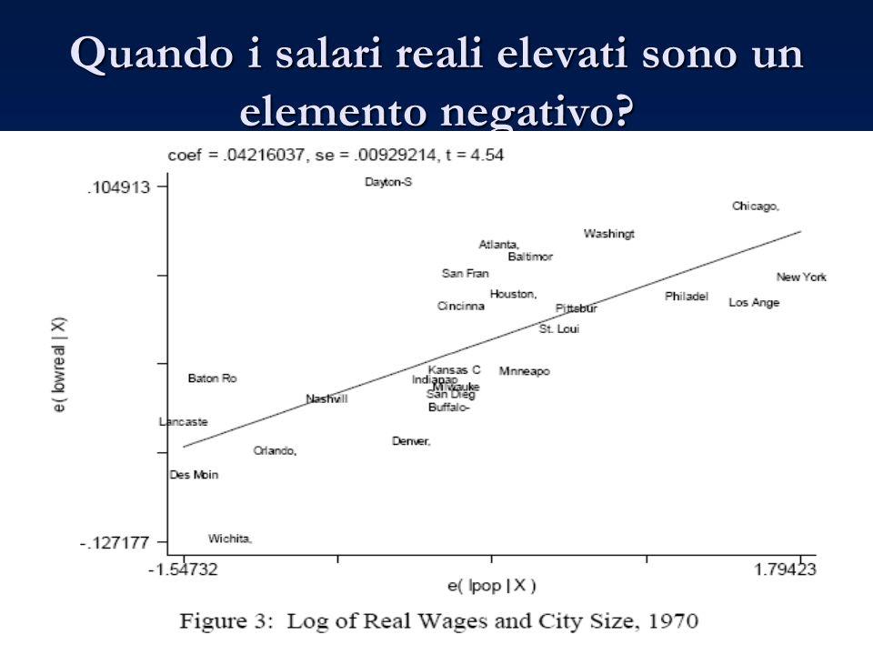 Quando i salari reali elevati sono un elemento negativo?