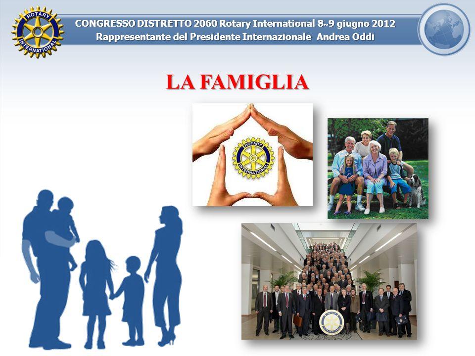 CONGRESSO DISTRETTO 2060 Rotary International 8 ~ 9 giugno 2012 Rappresentante del Presidente Internazionale Andrea Oddi LA FAMIGLIA CONTINUITA