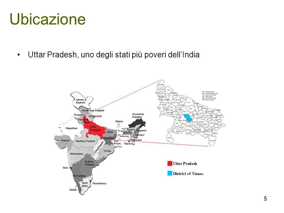Ubicazione Uttar Pradesh, uno degli stati più poveri dellIndia 5