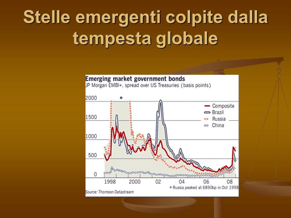 Stelle emergenti colpite dalla tempesta globale