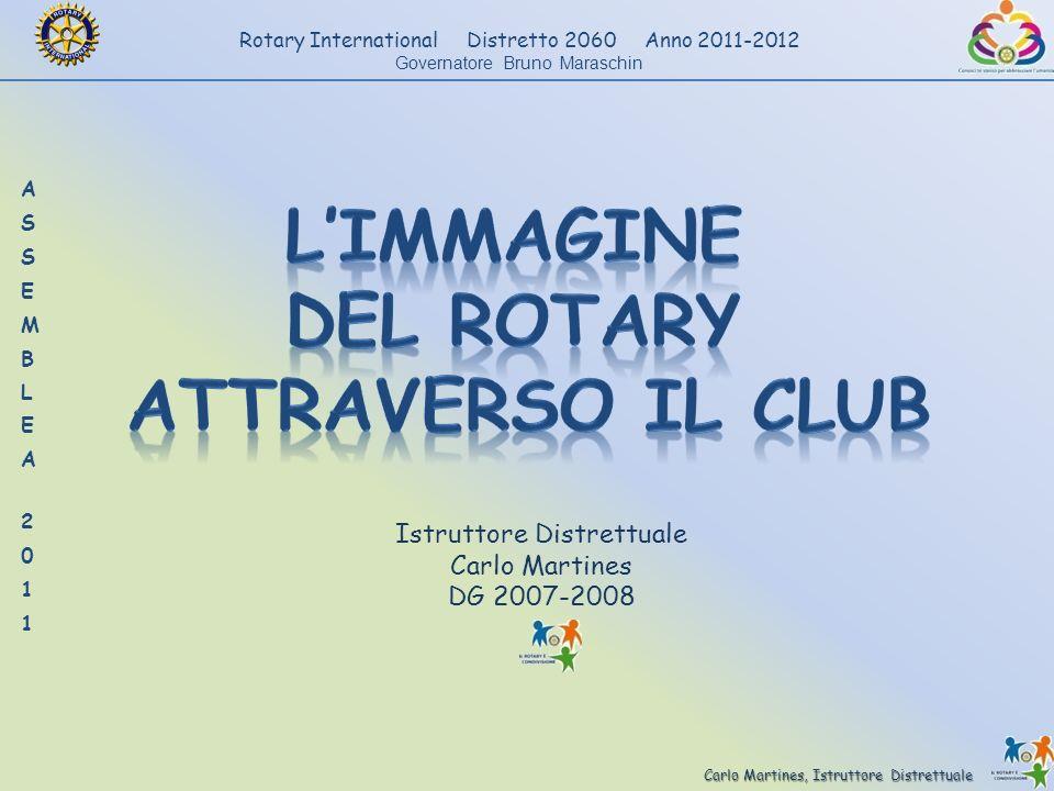 Carlo Martines, Istruttore Distrettuale Rotary International Distretto 2060 Anno 2011-2012 Governatore Bruno Maraschin Istruttore Distrettuale Carlo M