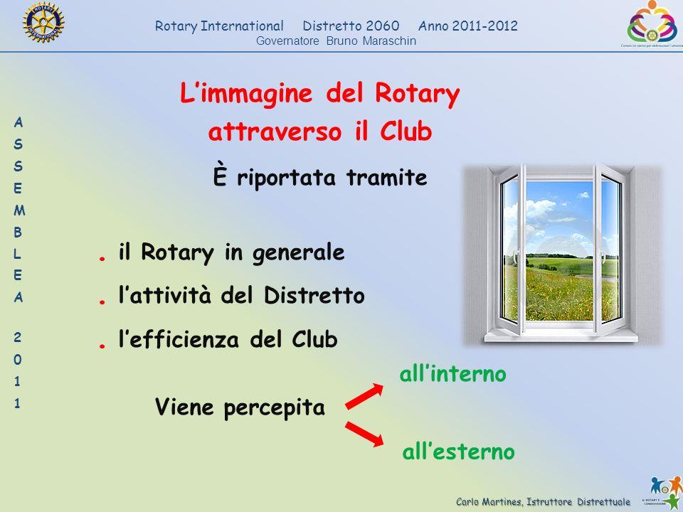 Carlo Martines, Istruttore Distrettuale Rotary International Distretto 2060 Anno 2011-2012 Governatore Bruno Maraschin Limmagine del Rotary attraverso