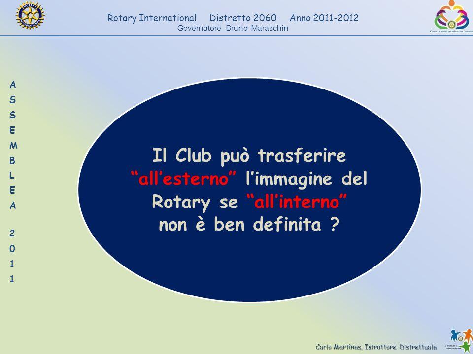 Carlo Martines, Istruttore Distrettuale Rotary International Distretto 2060 Anno 2011-2012 Governatore Bruno Maraschin Il Club può trasferire allester
