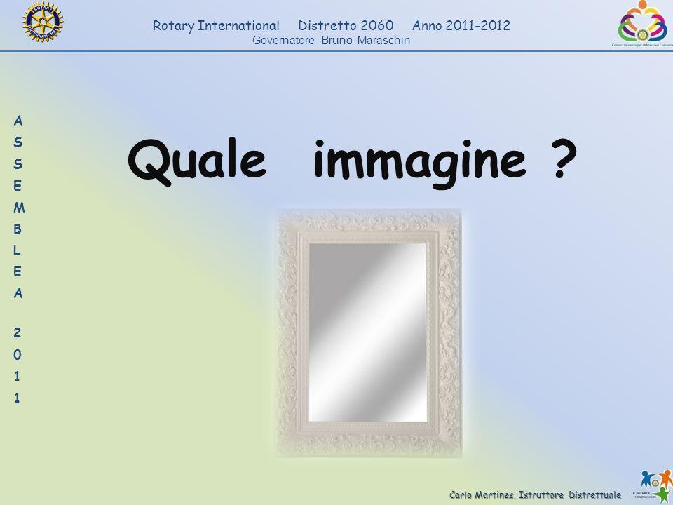 Carlo Martines, Istruttore Distrettuale Rotary International Distretto 2060 Anno 2011-2012 Governatore Bruno Maraschin Quale immagine ?
