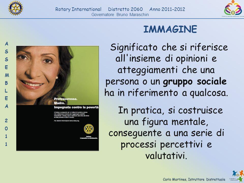 Carlo Martines, Istruttore Distrettuale Rotary International Distretto 2060 Anno 2011-2012 Governatore Bruno Maraschin IMMAGINE Significato che si rif