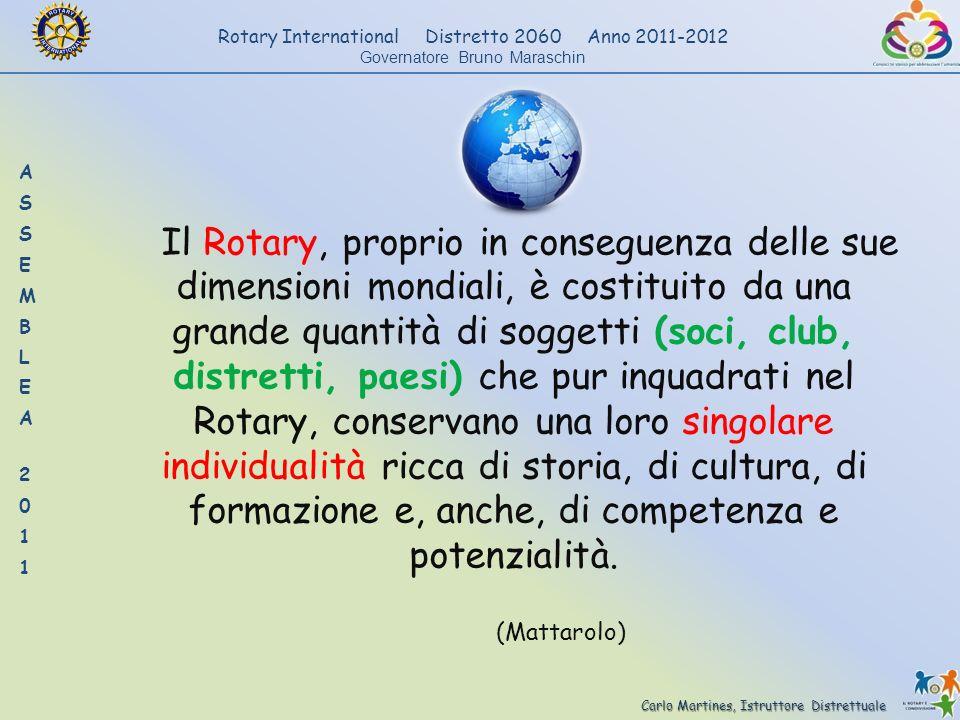Carlo Martines, Istruttore Distrettuale Rotary International Distretto 2060 Anno 2011-2012 Governatore Bruno Maraschin Il Rotary, proprio in conseguen