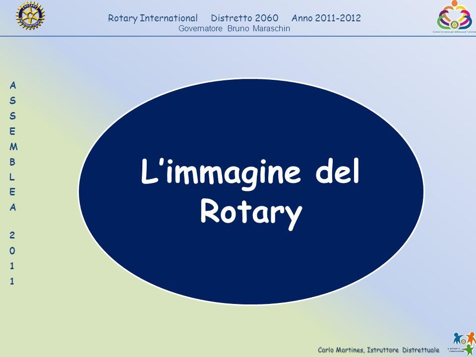 Carlo Martines, Istruttore Distrettuale Rotary International Distretto 2060 Anno 2011-2012 Governatore Bruno Maraschin Limmagine del Rotary