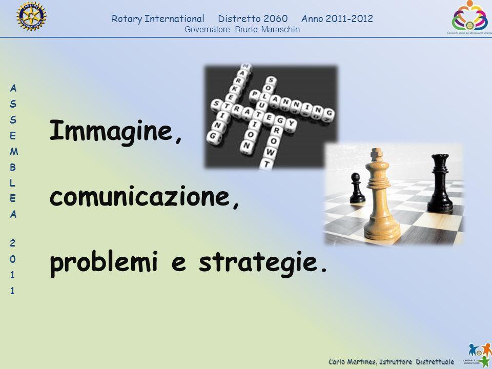 Carlo Martines, Istruttore Distrettuale Rotary International Distretto 2060 Anno 2011-2012 Governatore Bruno Maraschin Immagine, comunicazione, proble