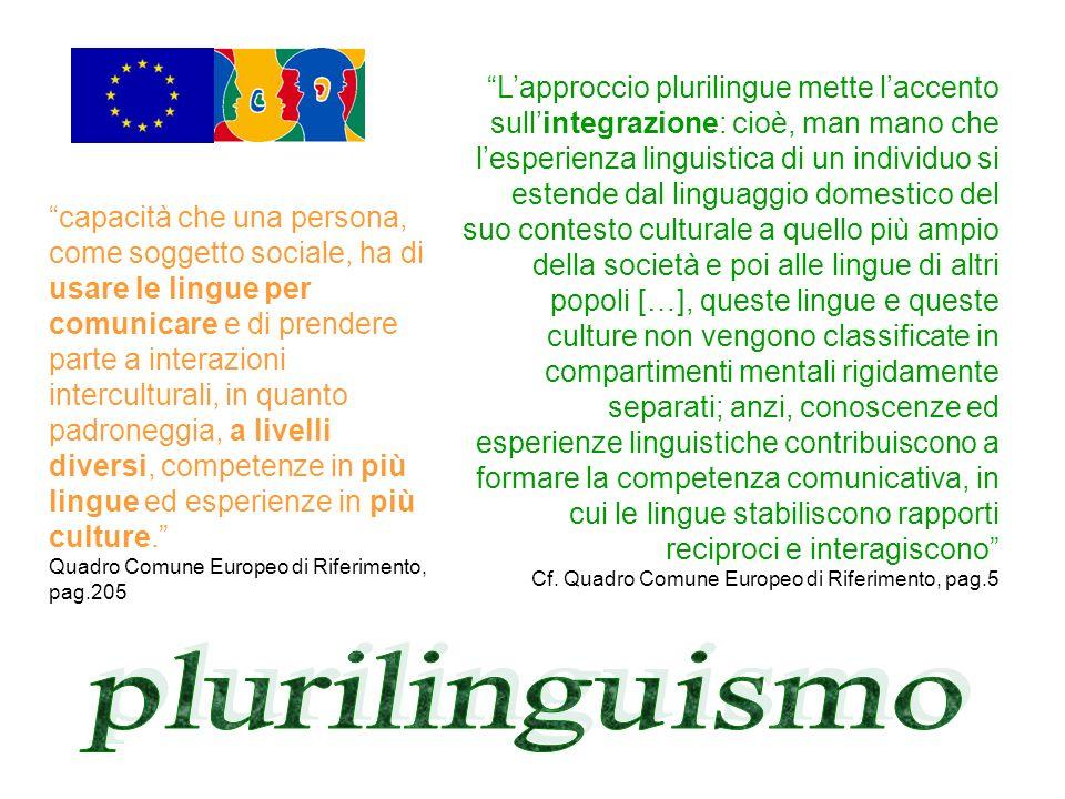 capacità che una persona, come soggetto sociale, ha di usare le lingue per comunicare e di prendere parte a interazioni interculturali, in quanto padr
