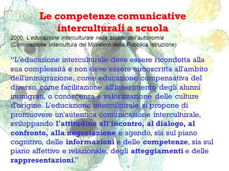 Le competenze comunicative interculturali a scuola 2000, Leducazione interculturale nella scuola dellautonomia (Commissione Intercultura del Ministero