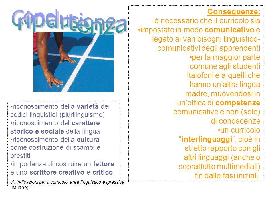 riconoscimento della varietà dei codici linguistici (plurilinguismo) riconoscimento del carattere storico e sociale della lingua riconoscimento della