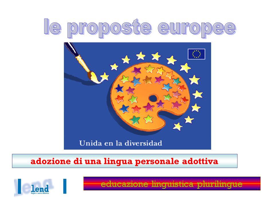 adozione di una lingua personale adottiva educazione linguistica plurilingue