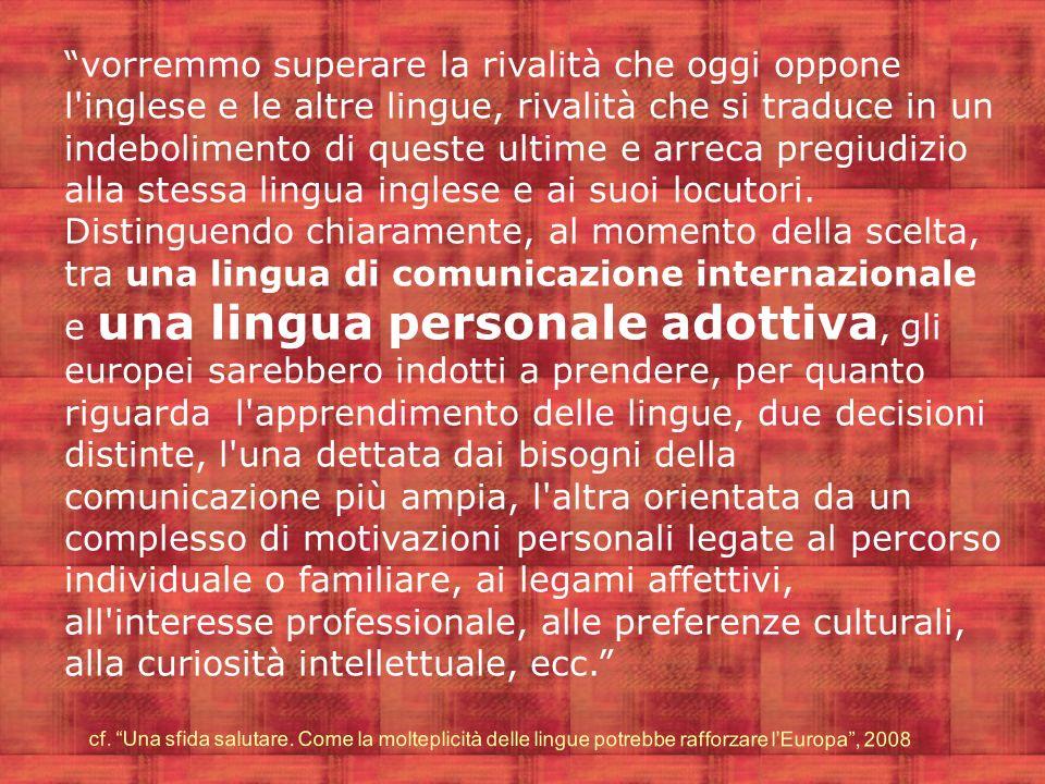Il curricolo di educazione linguistica deve porsi il problema di sviluppare capacità di comunicare in modo efficace in contesti sempre più caratterizzati dalla diversità di culture e di linguaggi.