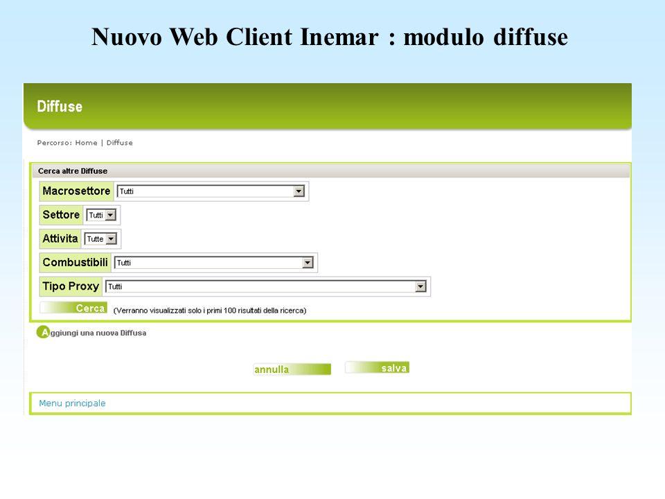 Nuovo Web Client Inemar : tabelle generali – FE inserimento fattori di emissione