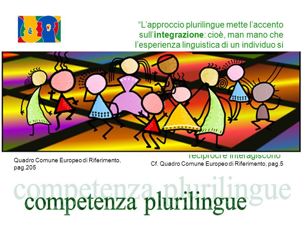 capacità che una persona, come soggetto sociale, ha di usare le lingue per comunicare e di prendere parte a interazioni interculturali, in quanto padroneggia, a livelli diversi, competenze in più lingue ed esperienze in più culture.