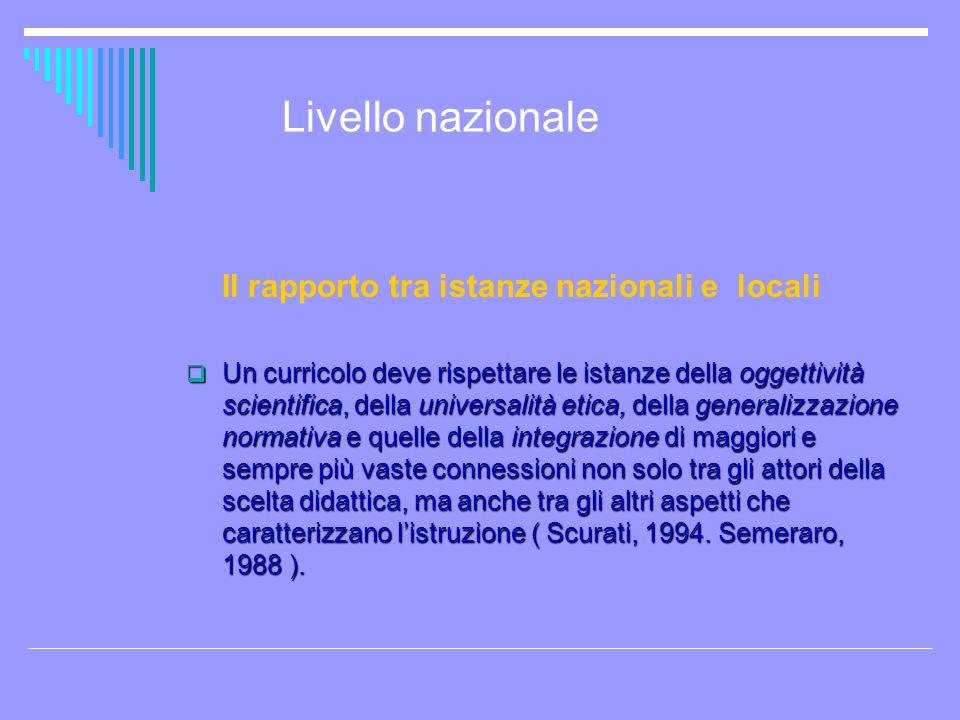 Livello regionale toscano Terzo ambito di intervento 3.