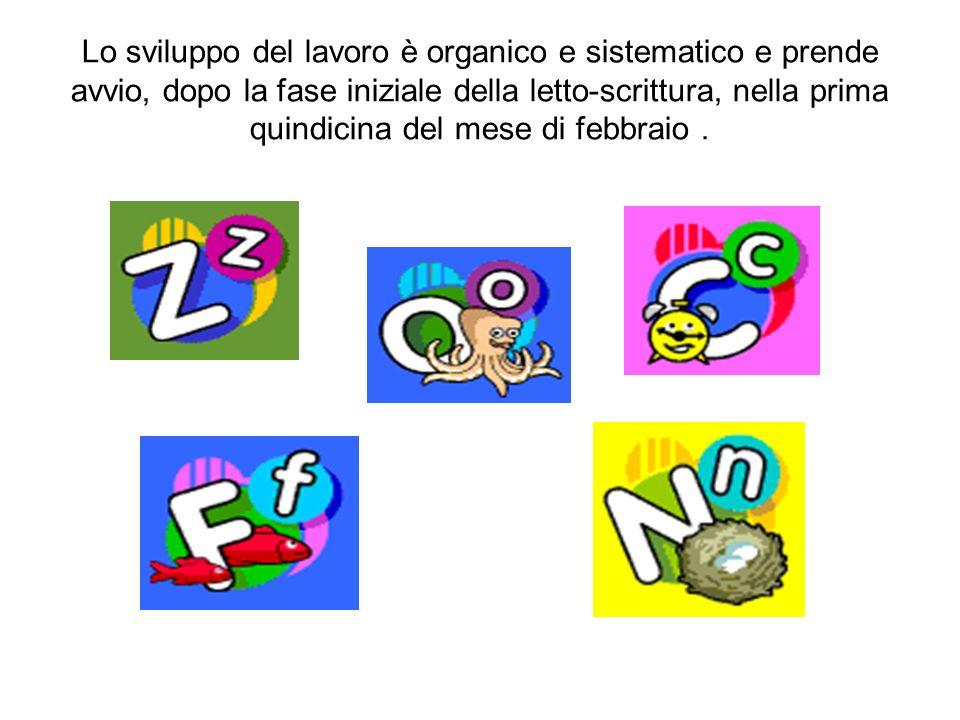 Lo sviluppo del lavoro è organico e sistematico e prende avvio, dopo la fase iniziale della letto-scrittura, nella prima quindicina del mese di febbra