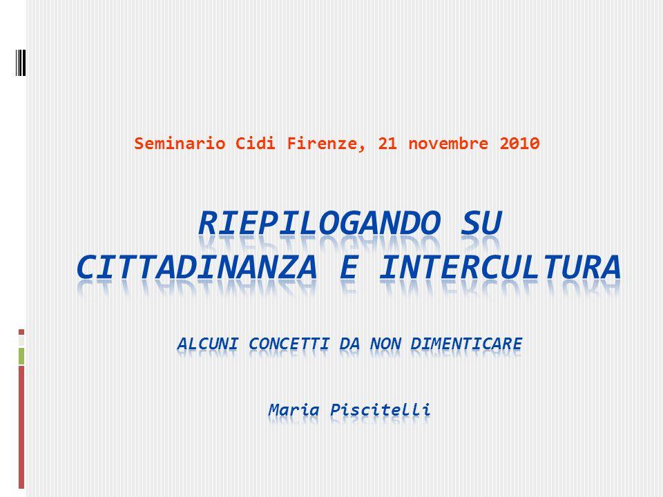Cittadinanza e intercultura