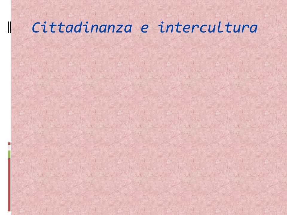 Cittadinanza e intercultura