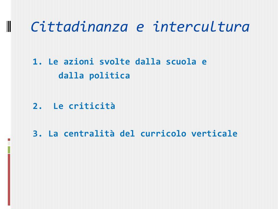 1. Le azioni svolte dalla scuola e dalla politica 2.