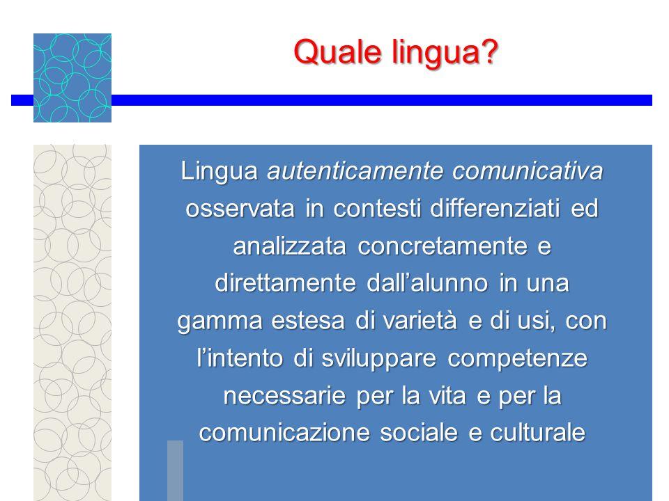 Quale lingua.