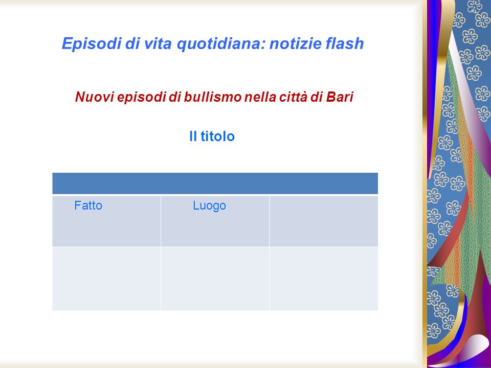 Seconda notizia flash Pestano a sangue i prof in classe Palermo/Sedie spaccate in testa ai prof.